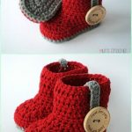 Crochet Ankle High Baby Booties Kostenlose Anleitungen zu Mustern, #Ankle #Baby #Booties #Crochet #Fre ...