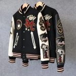 INDIAN Motocycle Betty Boop Uni Wolle Letterman Jacke Echtleder Ärmel # ...