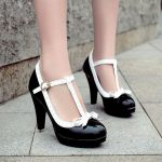 Prinzessin Lolita Mary Jane High Heels Rot Weiß Bowtie Shoes ~ Sale! WANNA 10 $ D ...