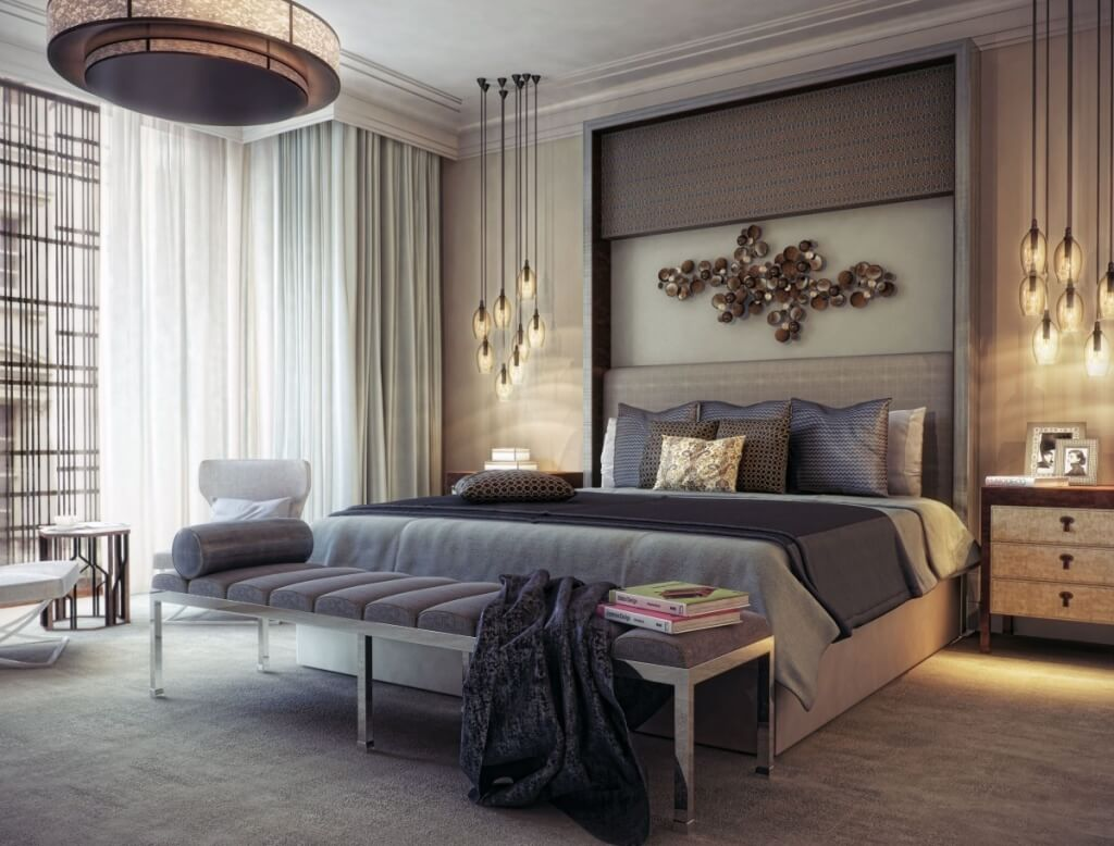 Chambre glamour gracieuse