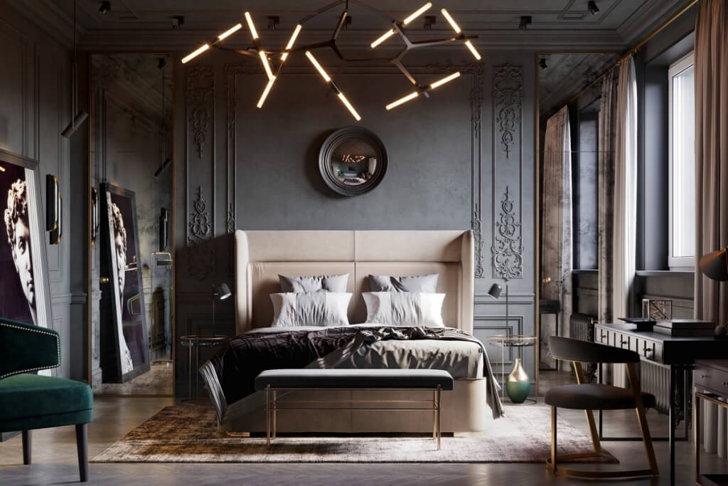 Chambre glamour chic
