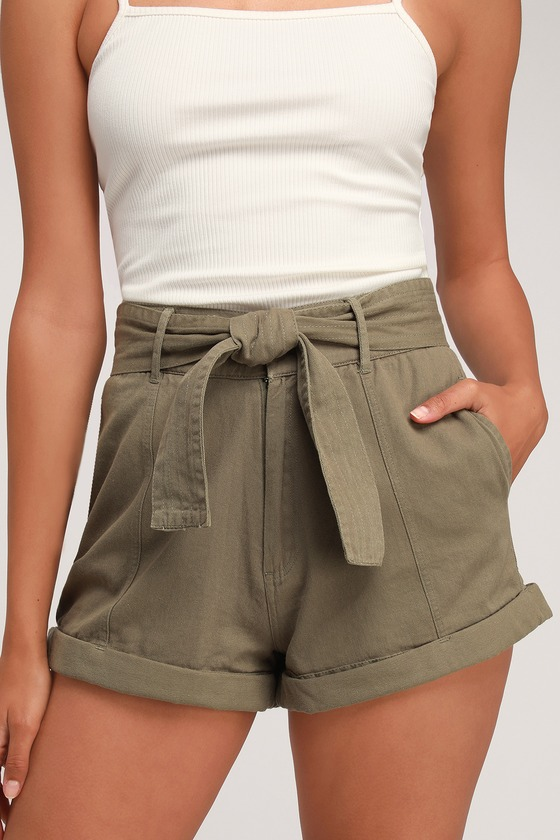 Billabong Day After Day - Short vert olive - Sho taille haute