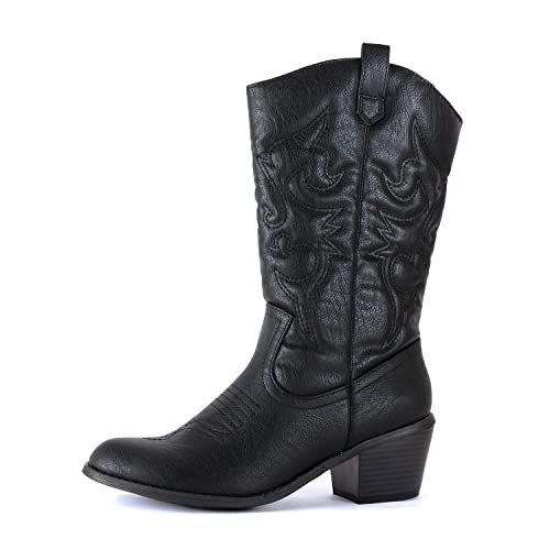Bottes de cow-girl noires: Amazon.c
