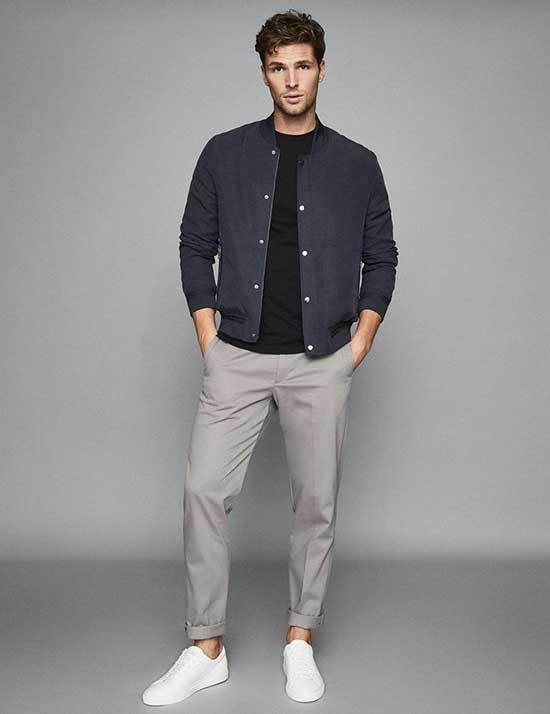 Classy to Sporty 35+ Tenues de baskets blanches pour hommes - Outfit Styl