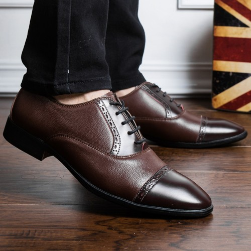 ROYYNA New Classics Style Hommes Chaussures Formelles Bout Carré Chaussures Hommes.