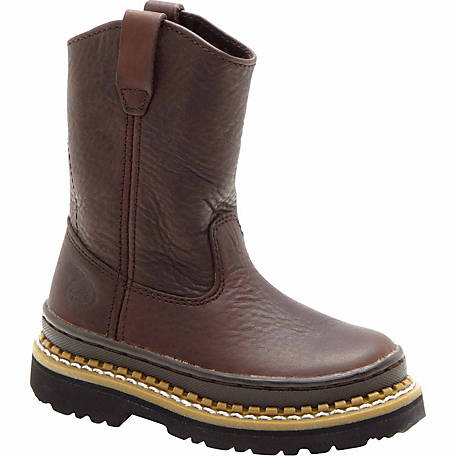 Georgia Boot Kids Little Georgia Giant Wellington Boot au tracteur.