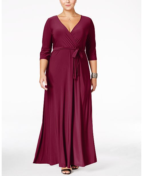 Love Squared Robe maxi fausse-portefeuille Taille Plus & Commentaires.