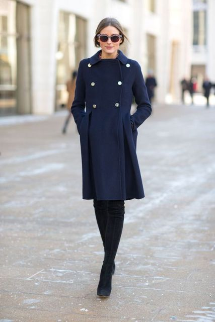 Idées de manteau bleu marine - thelatestfashiontrends.c