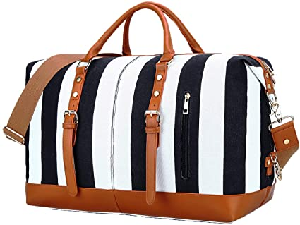 Amazon.com    Travel Weekend Overnight Bag for Womens Mens Canvas.