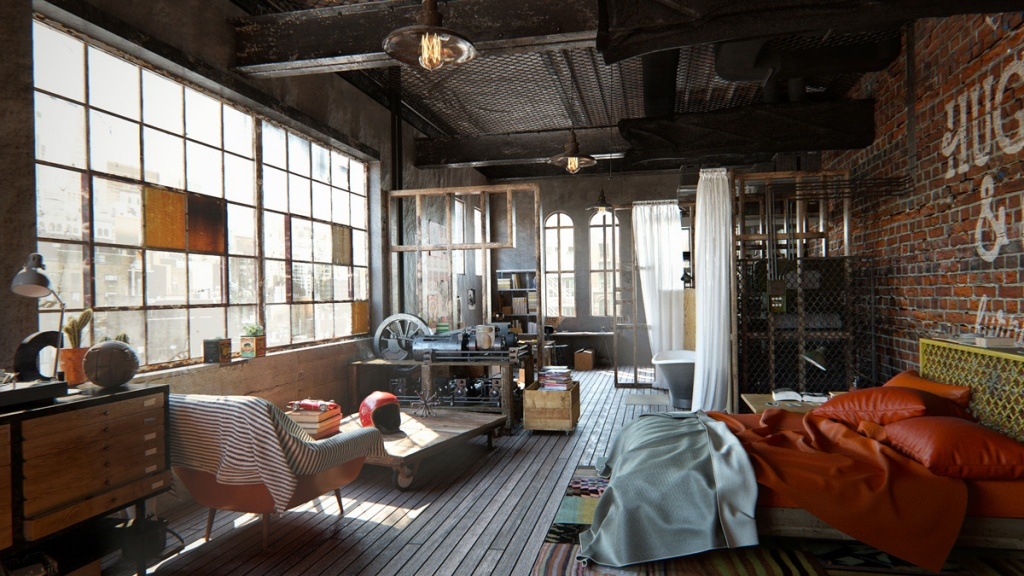 Chambre Industrielle Glamour