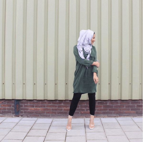 14 Hijab Street Style Mode Ide populaire