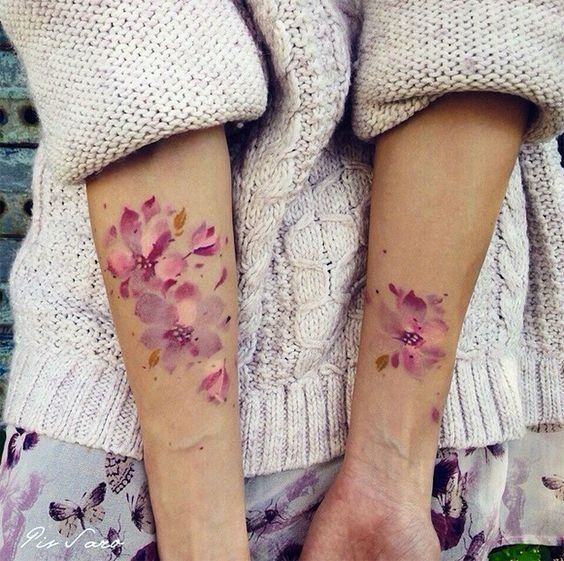 Inspiration de tatouage aquarelle