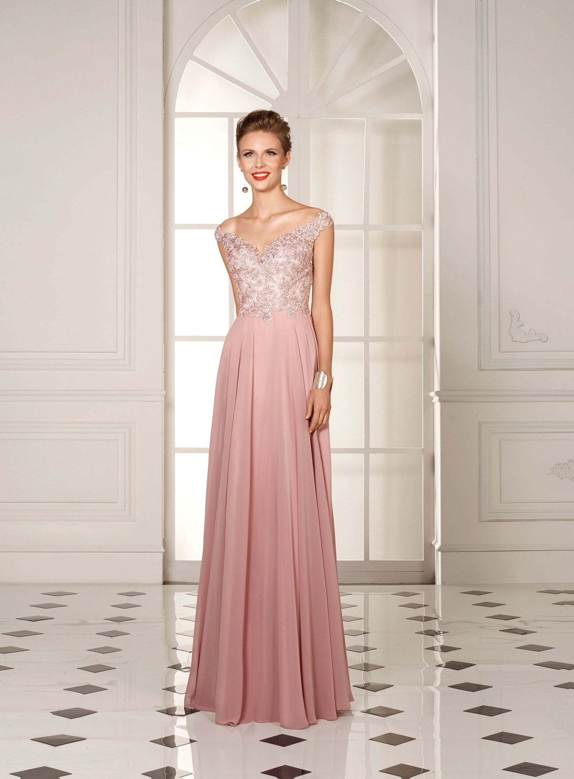 Robes longues roses
